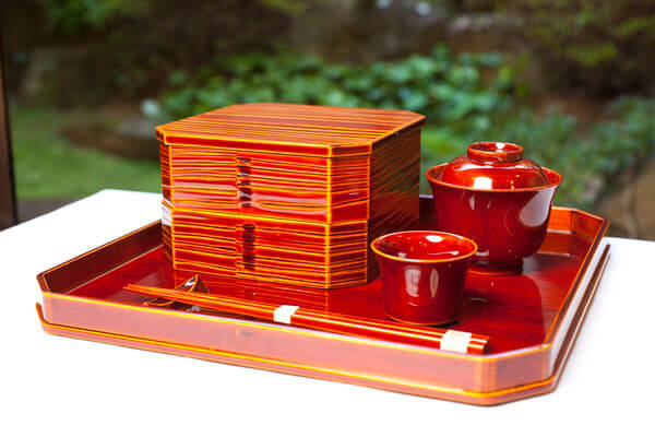Hida Shunkei Lacquerware, a Japanese traditional craft, lunch bento box