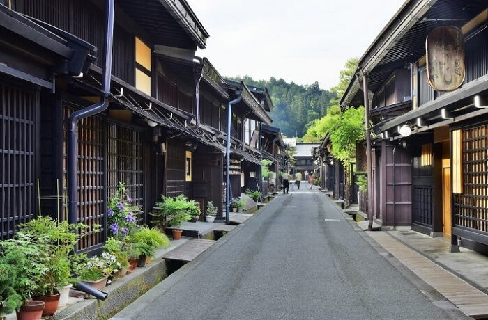 Hida Shunkei Lacquerware, a Japanese traditional craft, old townscape of Hida Takayama region
