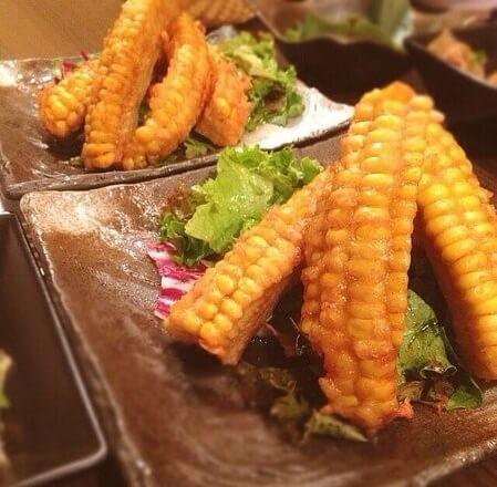 Japanese cuisine washoku recipe, corn tempura