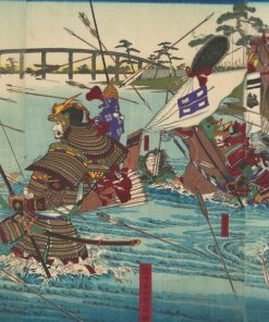 Ukiyo-e, Japanese authentic art, Uji River War by Utagawa Toyonobu