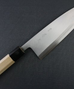 Japanese professional chef knife, Deba fillet knife, steel 210mm, entire view