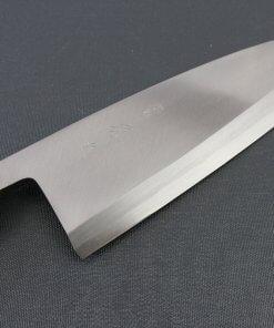 Japanese professional chef knife, Deba fillet knife, steel 210mm, details of blade front side