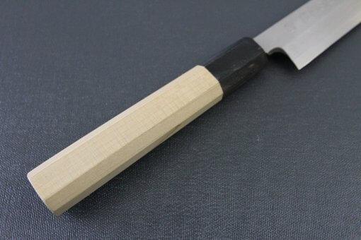 Japanese professional chef knife, Yanagiba sushi knife, steel 240mm, details of handle
