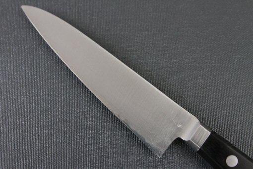 Japanese Chef Knife, Toshu super blue steel Aogami Super, petit knife 120mm, details of blade backside