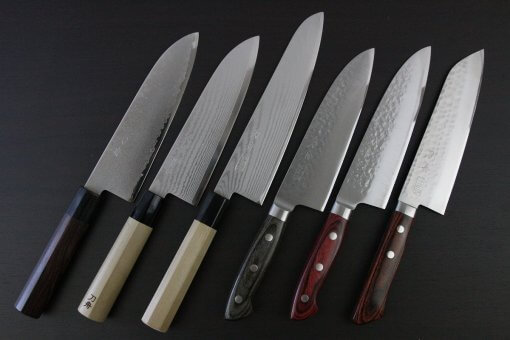 Toshu Santoku multi-purpose Japanese chef's knives, special selection series full lineup