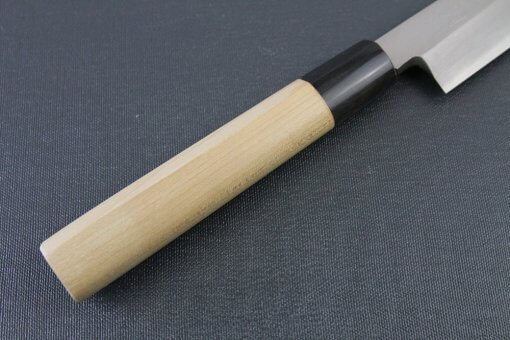 Japanese professional chef knife, Yanagiba Sushi knife, stainless steel 270mm, details of handle