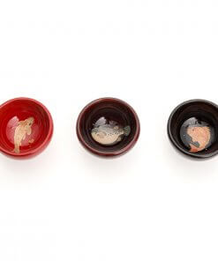Wajima lacquerware sake cups, all color variations