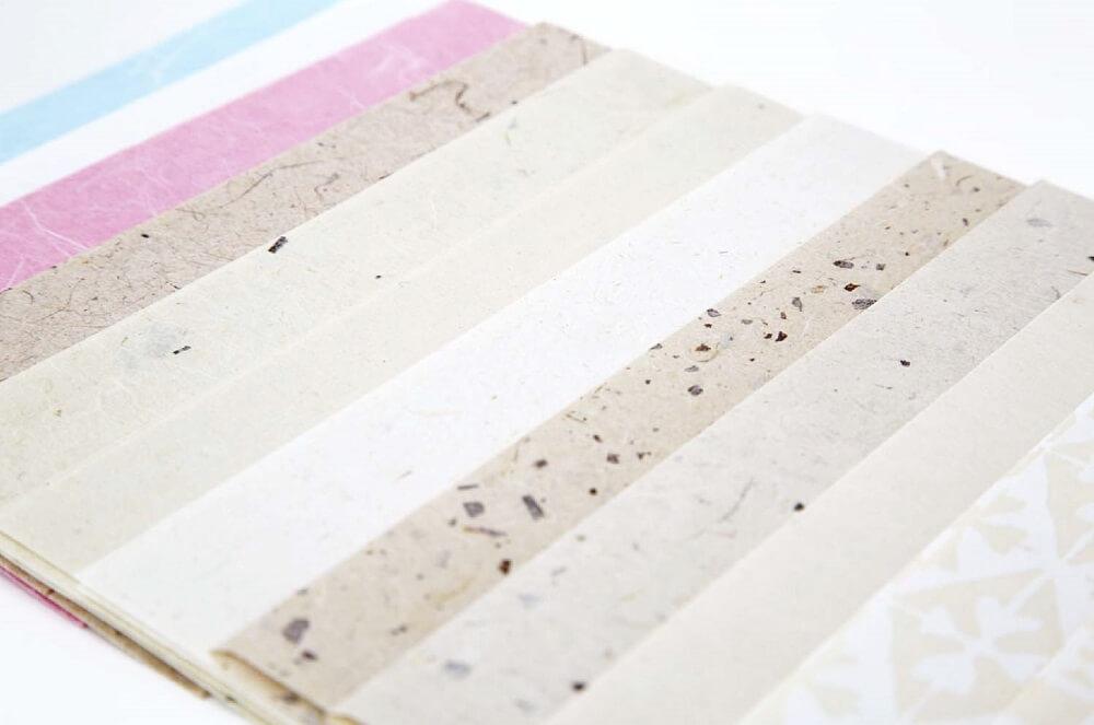 Etchu washi Japanese paper, a Japanese crafts, finished Washi japanese papers