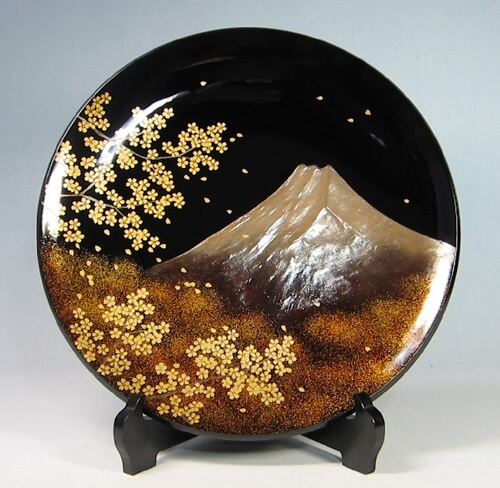 Wajima-nuri Lacquerware, a Japanese craft and art, decoration plate