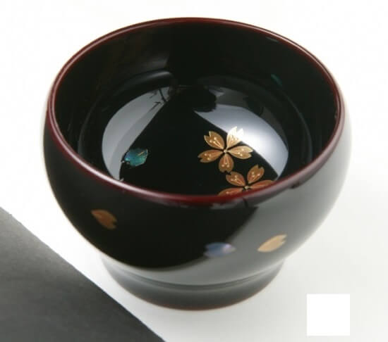 Wajima-nuri Lacquerware, a Japanese craft and art, Sake cup