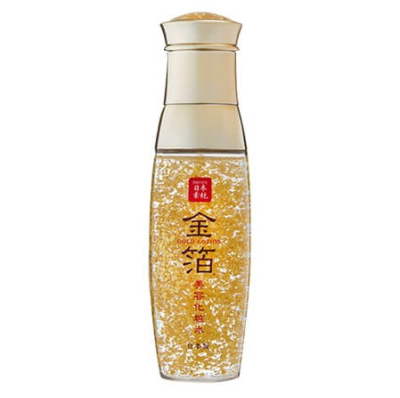 Kanazawa gold leafe, a Japanese traditional craftsmanship, lotion bottle with gold leaves