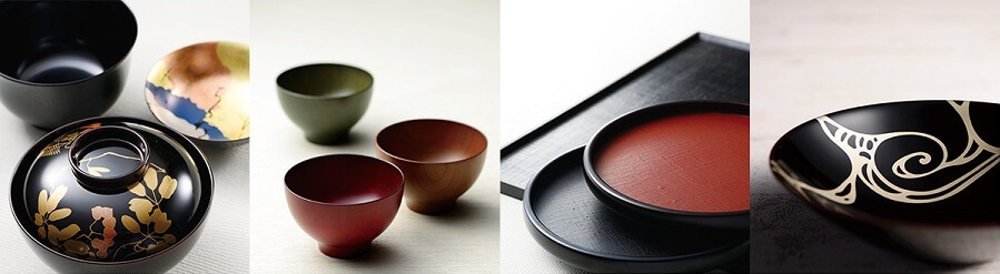 Echizen lacquerware, a Japanese traditional craft, various types of lacquerware