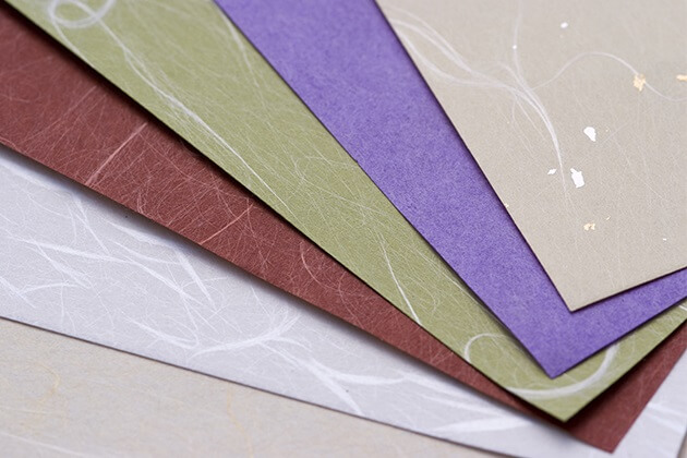 Etchu Washi Japanese paper, a Japanese traditional craft, various colored papers