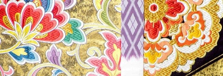 Nishijin-ori Textile, a Japanese traditional craft in Kyoto for Kimono, representative texture patterns