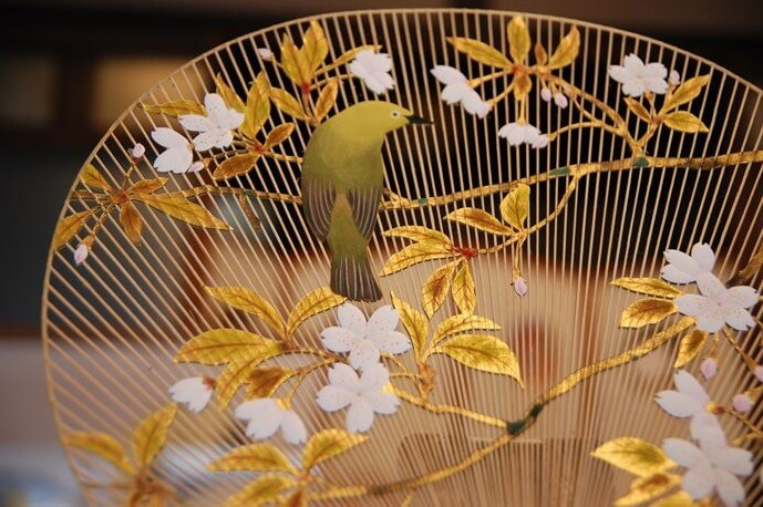 Kyoto Uchiwa Fans, a Japanese craft, details of high grade fans
