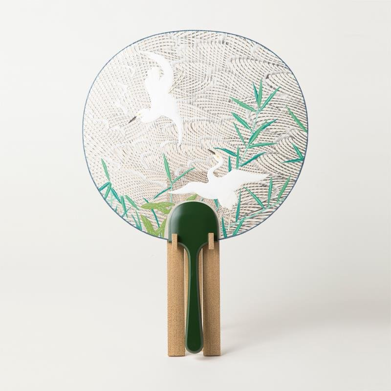 Kyoto Uchiwa Fans, a Japanese craft, high grade product example
