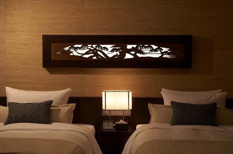 Osaka Ranma: Wood Carved Openwork Panel, used in a bedroom