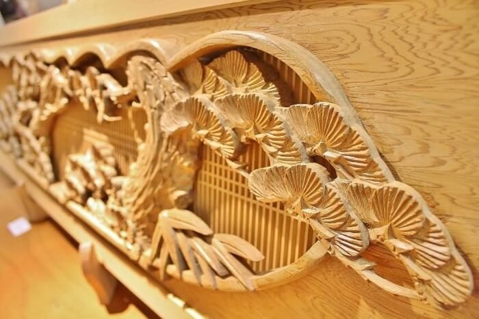 Osaka Ranma: Wood Carved Openwork Panel, details of a high grade product