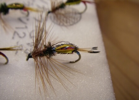 Banshu fishing flies, a Japanese traditional craft, details of a fly