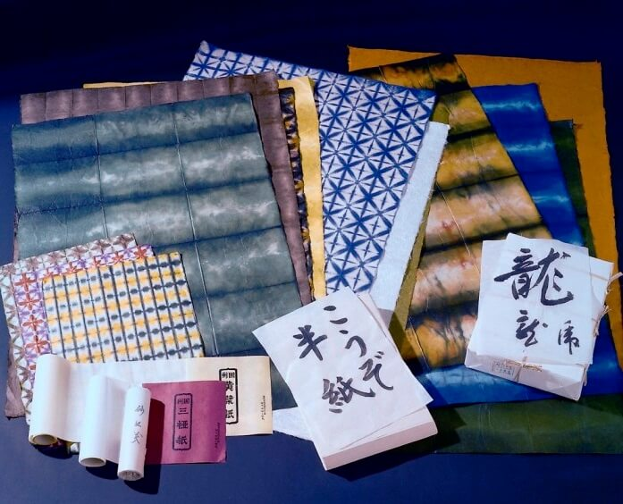 Inshu Washi Japanese paper, a Japanese traditional craft, various papers