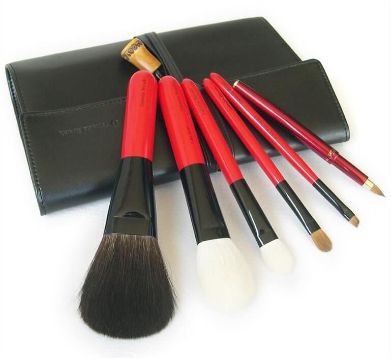 Kumano brushes, a Japanese craft, a set of makeup brushes
