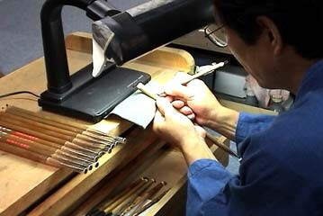 Kumano brushes for makeup, a Japanese craft, making process