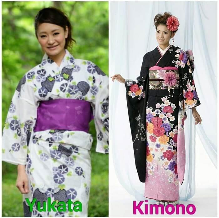 Japanese arts and crafts: traditional cloth Kimono and Yukata
