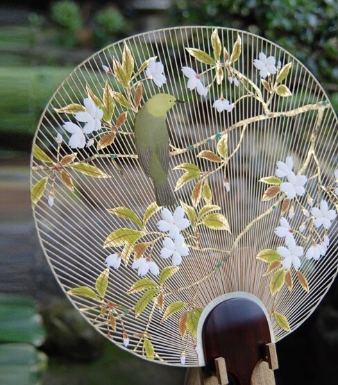 Japanese arts and crafts: uchiwa and Sensu fans