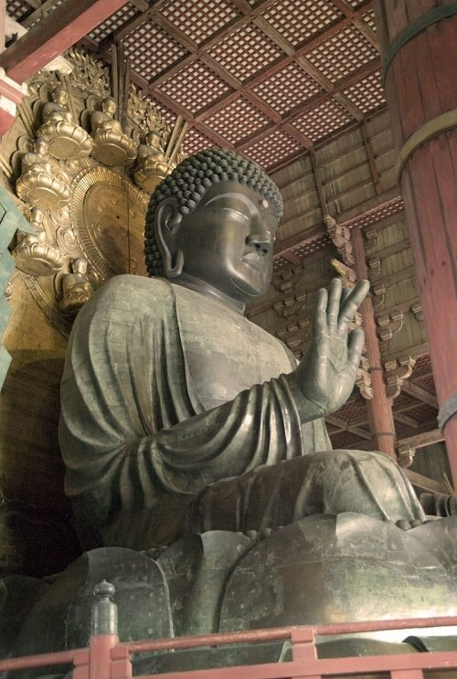 Buddhist Architecture, buddha statue in Todaiji temple