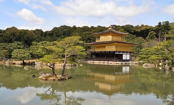 Buddhist Architecture, Kinkakuji temple in Kyoto