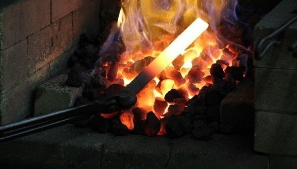 Nakiri Japanese vegetable knife, making process forging of Japanese chef knives
