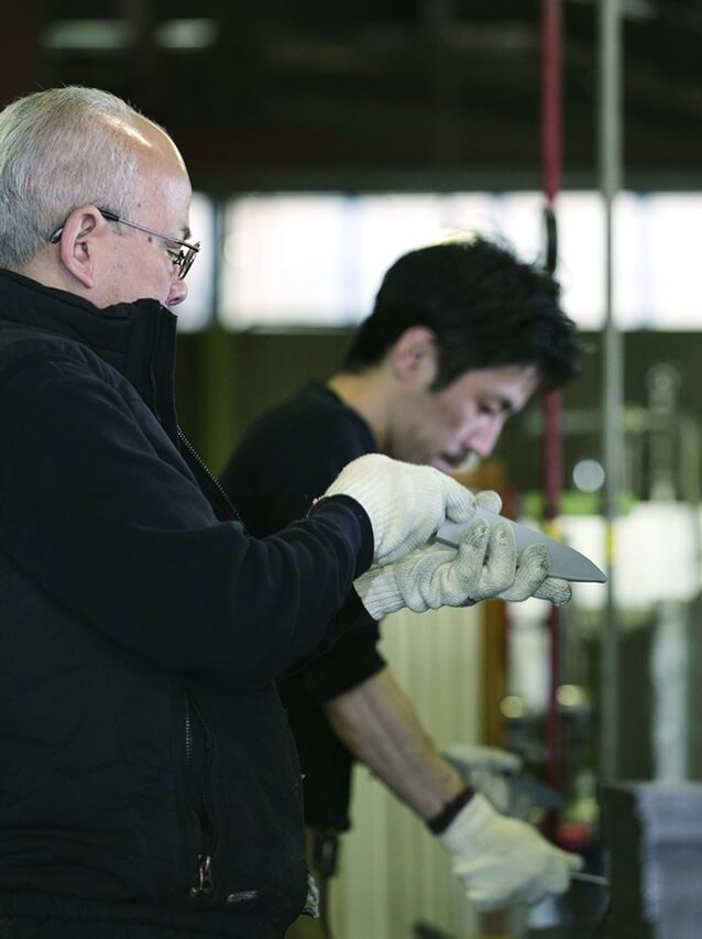 Seki Japan, a most famous producing center of Japanese chef knives, finishing process