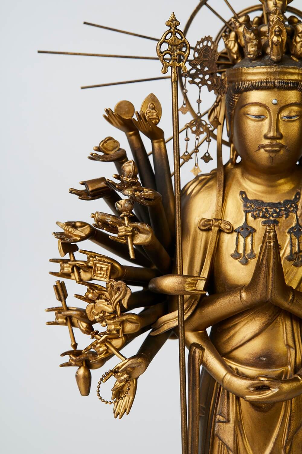 Japan's Ultimate Buddhist Artwork: The Thousand-Armed Kannon, replicated buddha statue product details
