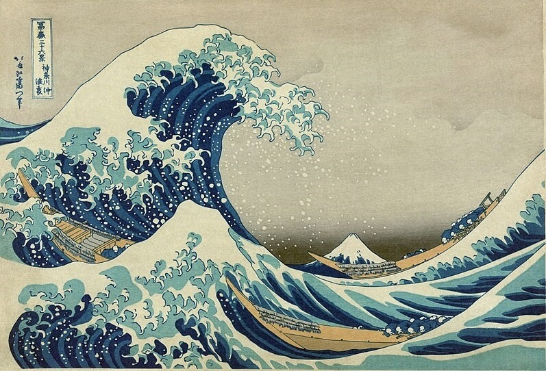 Ukiyo-e, Japanese Wood Block Prints, the wave print