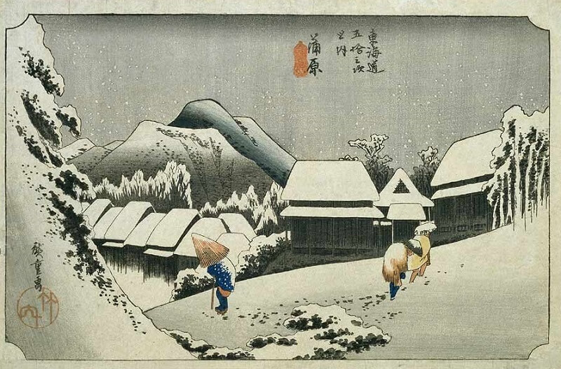 Ukiyo-e, Japanese Wood Block Prints, landscape print