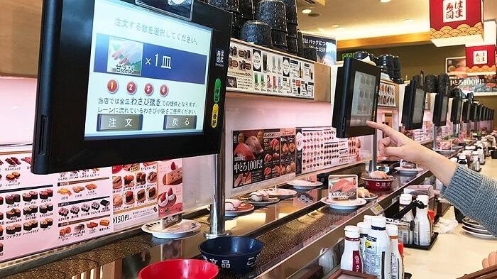 Rotating sushi restaurant system