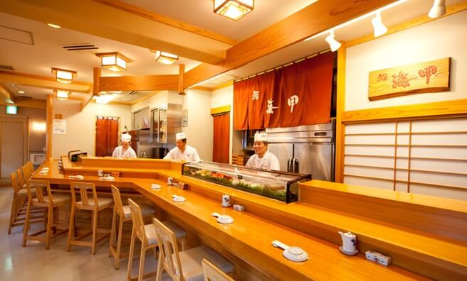 counter-type authentic sushi restaurant