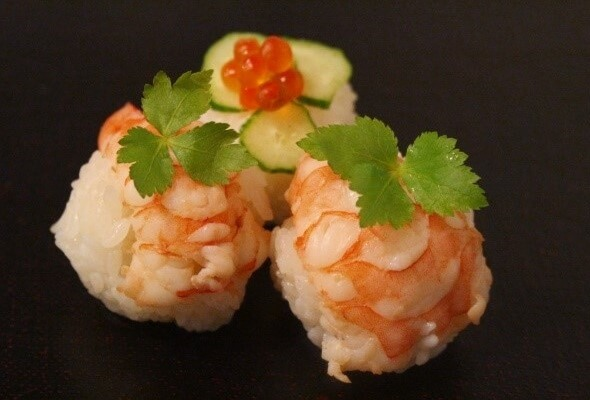Sushi that can be used in Bento, shrimp Sushi