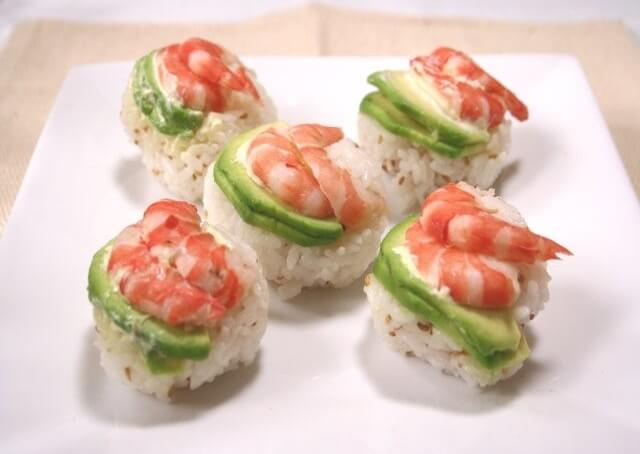 Easy recipe for Temari Sushi, completion of making process served on a plate