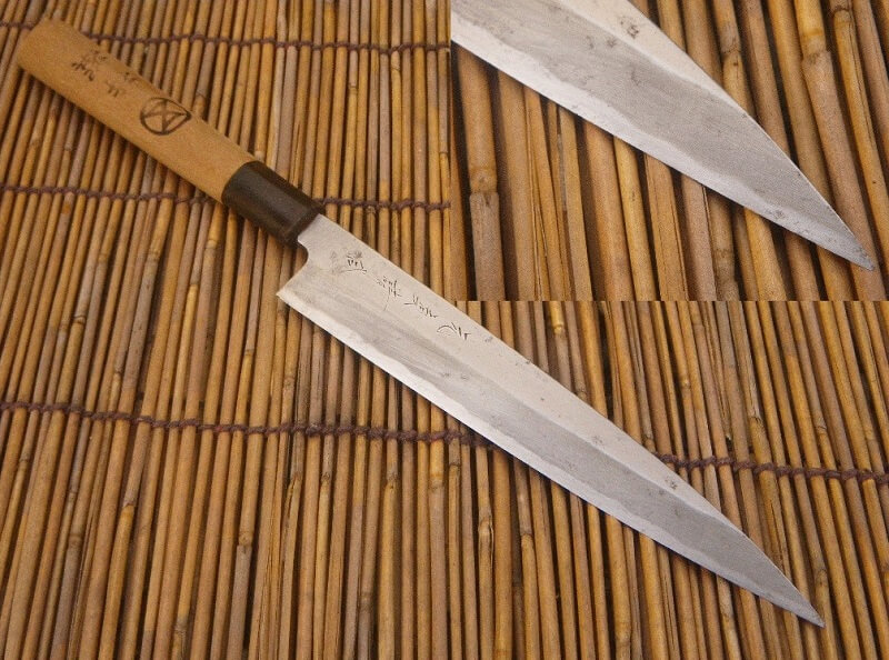 Sushi knives for professional Japanese chefs