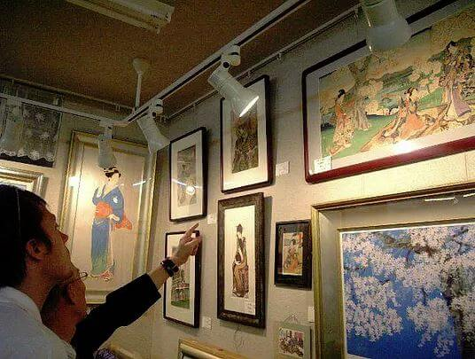 Our Ukiyoe Gallery with visitors