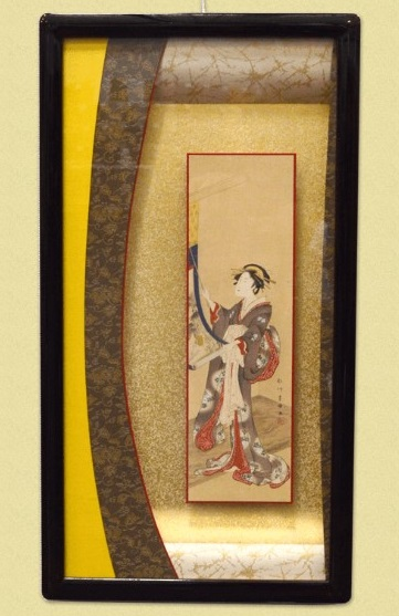 Art framing and repair techniques, a Japanese craftsmanship, flamed painting