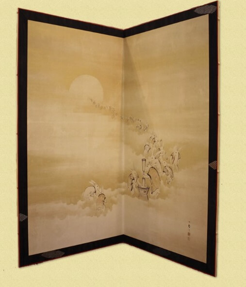 Art framing and repair techniques, a Japanese craftsmanship, painted partition