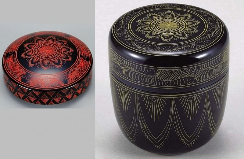 Kagawa lacquerware, a Japanese traditional craft, products made by famous technique