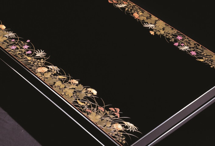 Kagawa lacquerware, a Japanese traditional craft, product made by coloring technique