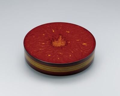 Kagawa lacquerware, a Japanese traditional craft, product made by a living national treasure master crafteman