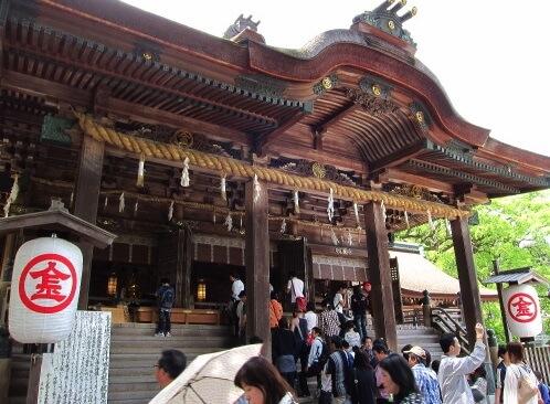Marugame Uchiwa fans, a traditional Japanese craft, Kompira shrine
