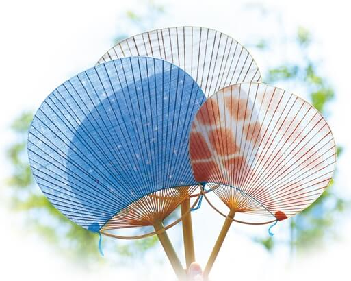 Marugame Uchiwa fans, a traditional Japanese craft, handcrafted fans by craftemen