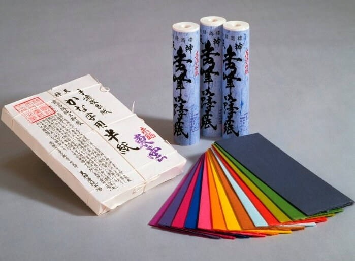 Ohzu Washi japanese paper, a traditional craft, colored paper