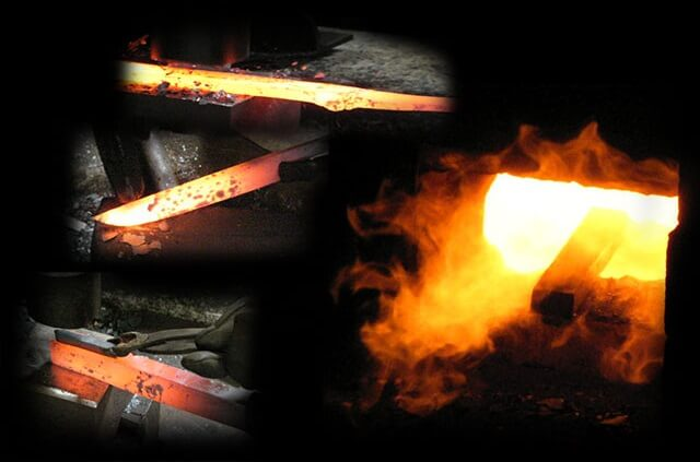 Tosa cutlery, a traditional Japanese craft, forging image